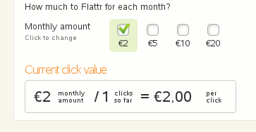 Clickratio Flattr
