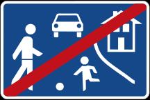 Straßenschild Ende der Spielstraße